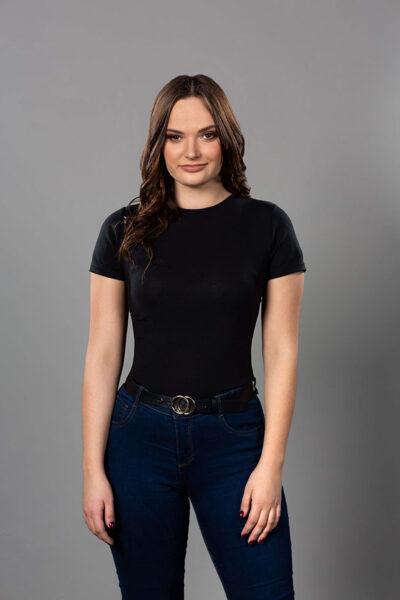 Correcty sieviešu T-krekls melns